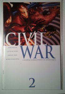Civil War #2 (2007) Key Spider-Man Reveals Identity Marvel 9.4 NM Comic Book