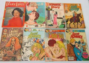 Romance comics lot 8 different books (Silver and Bronze Age)