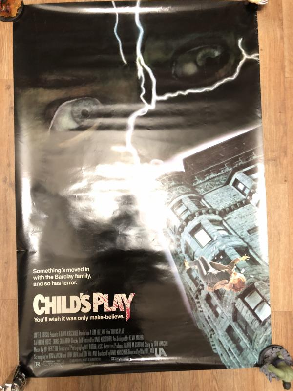 Child's Play original movie poster 1988 27x40 fair condition