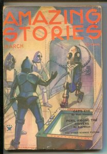 Amazing Stories 3/1934-L Morey robot cover-E.E. Smith-Bob Olsen-Edgar Allan P...