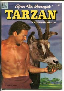 TARZAN #40-1953-DELL-BURROUGHS-MARSH-LEX BARKER PHOTO COVER-vf
