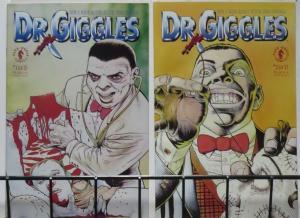 DR. GIGGLES (Dark Horse, 1992) #1-2 VF-NM COMPLETE. Movie, meet tie-in!