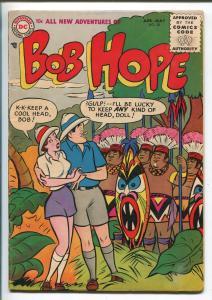 BOB HOPE #38 1956-DC-WACKY HUMOR-BABE-JUNGLE COVER-BIZARRE INNUENDO-fn/vf