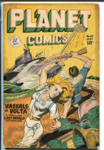 Planet #60-1949-Fiction House-Good Girl Sci-fi Art-Mysta Of The Moon-Evans-G/VG