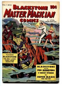 BLACKSTONE MASTER MAGICIAN #3 VITAL Mummies-Fog monster-comic book