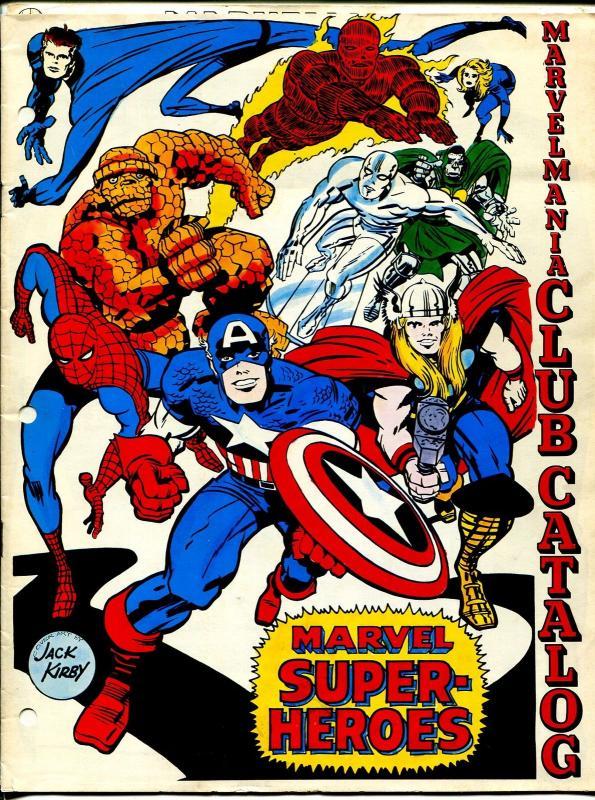 MarvelMania Club Catalog #1 1969-Jack Kirby-Thor-Spider-man-Thing-VG/FN
