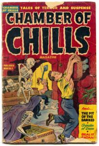 Chamber of Chills #7 violent pre-code horror-SOTI-decapitations-reading copy
