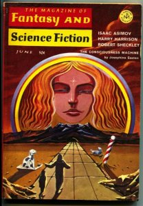 MAGAZINE OF FANTASY AND SCIENCE FICTION-June 1968-Science Fiction Pulp Thrills