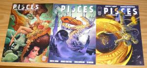 Pisces #1-3 VF/NM complete series - sci-fi psychological horror - kurtis wiebe 2