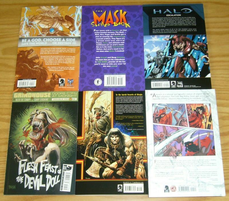 Lot of (10) Dark Horse TPBs/HCs - hellboy - the mask - conan - (value: $203)