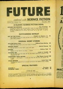 Future Pulp December 1941- Around the Universe- Ray Cummings Bargain copy