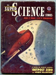 Super Science Stories August 1951-JOutpost Zero- Poul Anderson FN