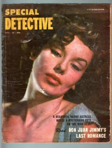 SPECIAL DETECTIVE APR 1954-CROSS DRESSING CRIMINAL-TRUE CRIME PULP FR