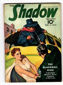 SHADOW 1941 NOV 1- STREET AND SMITH-RARE PULP MAGAZINE