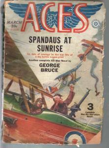 Aces 3/1930-Fiction House-Rudolph Belarski-bi-plane-George Bruce-FR/G