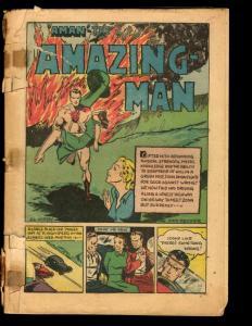 Amazing-Man Comics # 18 Golden Age Comic Book 1940 Centaur Coverless NE1