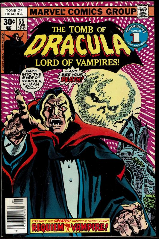 Tomb of Dracula #55  (Apr 1977 Marvel)  8.5 VF+