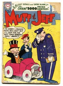 Mutt & Jeff #90 1956-DC-Bud Fisher-police officer cover bargain