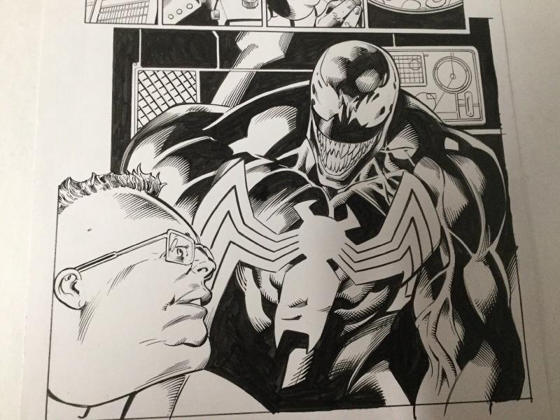 Venom 165 Page 11 Mark Bagley Original Art 3/5 Splash Interior Scary!