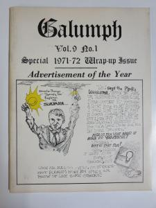 Galumph Vol. 9 #1 Special 1971-72 Wrap Up Issue News Parody Don Pendley Lampoony