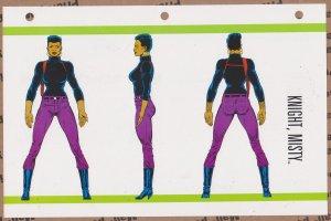 Official Handbook of the Marvel Universe Sheet- Knight, Misty