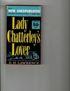 3 Books Lady Chatterley's Lover The Rasp High Saddle Mystery Thriller JK14