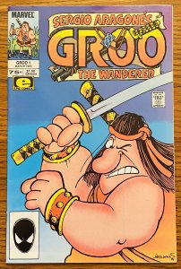 SIGNED 1985 MARVEL EPIC GROO THE WANDERER #1 SERGIO ARAGONES w SKETCH on PAGE 1