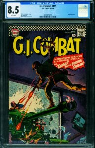 G.I. COMBAT #125 CGC 8.5 1966-DC-WWII STORIES- 2039574017