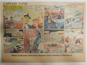 Captain Yank Sunday by Frank Tinsley from 1/3/1943 Size: 11 x 15 inches