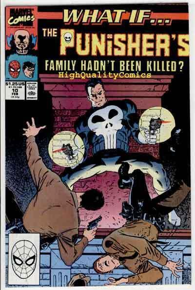 WHAT IF #10, NM, Punisher, Central Park, NYC, 1989, more Punisher in store
