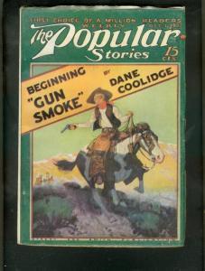 POPULAR MAGAZINE PULP-10/1/27-GUN SMOKE-LASSWELL  COVER FN