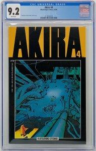 Akira #4 CGC 9.2 Marvel Epic Comics 1988. Katsuhiro Otomo Story, Cover & Art.