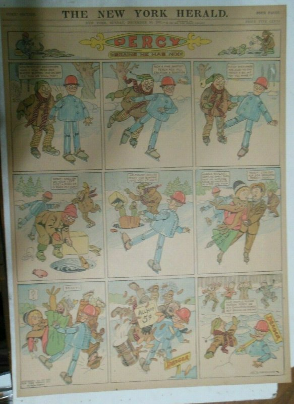 Percy The Robot Sunday Page by HC Greening from 12/10/1911 Full Page Size Rare !
