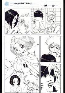 Ninja High School #139 Page 23 Original Comic Book Art - Ben Dunn
