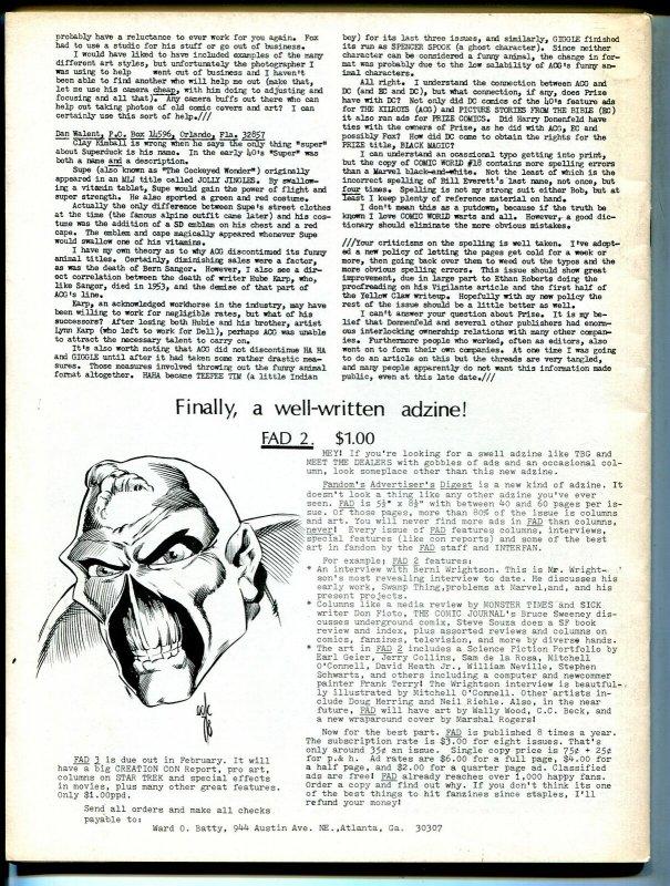 Comic World #10 1979-Vigilante cover-Yellow Claw-FN minus
