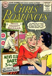 Girls' Romances #38 1956 DC-palm reader-fortune teller-love triangle-VG