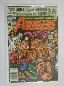 Avengers #216 featuring Silver Surfer Newsstand 6.0 FN (1981 1st Series)