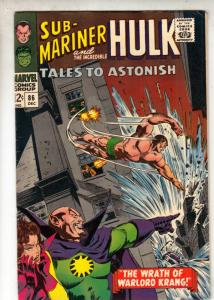 Tales to Astonish #86 (Dec-66) VF/NM High-Grade Incredible Hulk, Namor the Su...