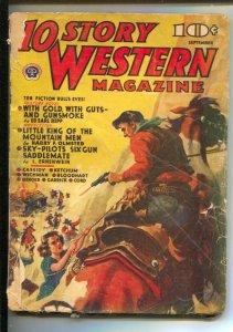 10 Story Western 9/1940-Popular-pulp thrills by Ed Earl Repp-Bart Cassidy-G