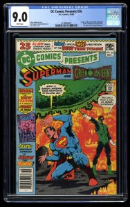 DC Comics Presents #26 CGC VF/NM 9.0 White Pages 1st New Teen Titans!