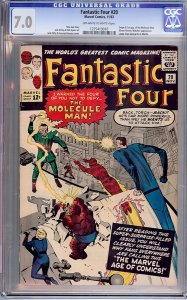 Fantastic Four #20 (Marvel, 1963) CGC 7.0 - KEY 1st Molecule Man