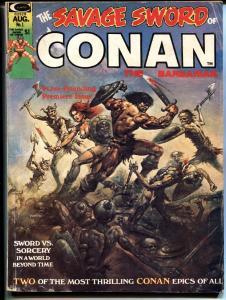 Savage Sword of Conan #1 VG 1974 Boris Vallejo cover- Sword & Socery