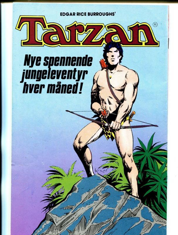 Tarzan #8 1990-Edgar Rice Burroughs-Norwegian-non U.S. story-VF-