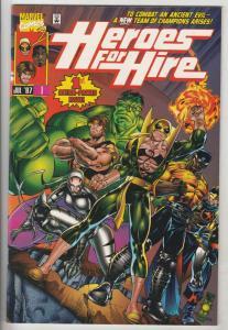 Heroes for Hire #1 (Jul-97) NM/MT Super-High-Grade Luke Cage, Iron Fist, Hulk...