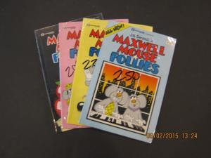 Renegade Press Comics - LOT- MAXWELL MOUSE FOLLIES #1-3,  VERY FINE (SIC244)