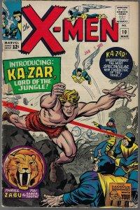 X-men #10 (Marvel, 1965) - Key 1st Ka-Zar