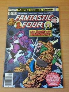 Fantastic Four #193 ~ FINE - VERY FINE VF ~ 1978 MARVEL COMICS