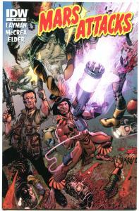 MARS ATTACKS #5, VF+, Layman, 2012, IDW, Aliens, Ray guns, Death