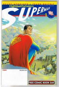 SUPERMAN, FCBD, Promo, Grant Morrison, Quitely,2008, NM