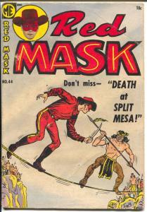 Red Mask #44 1954-ME-Black Phantom-Ghost Rider-drug story-VG